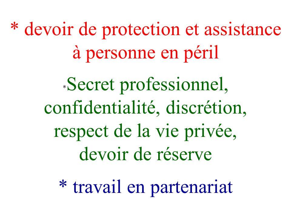 Pierre Verdier secret professionnel, partage de linformation et obligations de signalement