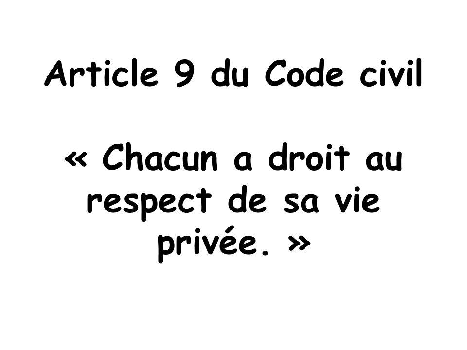 CEDH Article 8 - Droit au respect de la vie privée et familiale 1. Toute personne a droit au respect de sa vie privée et familiale, de son domicile et