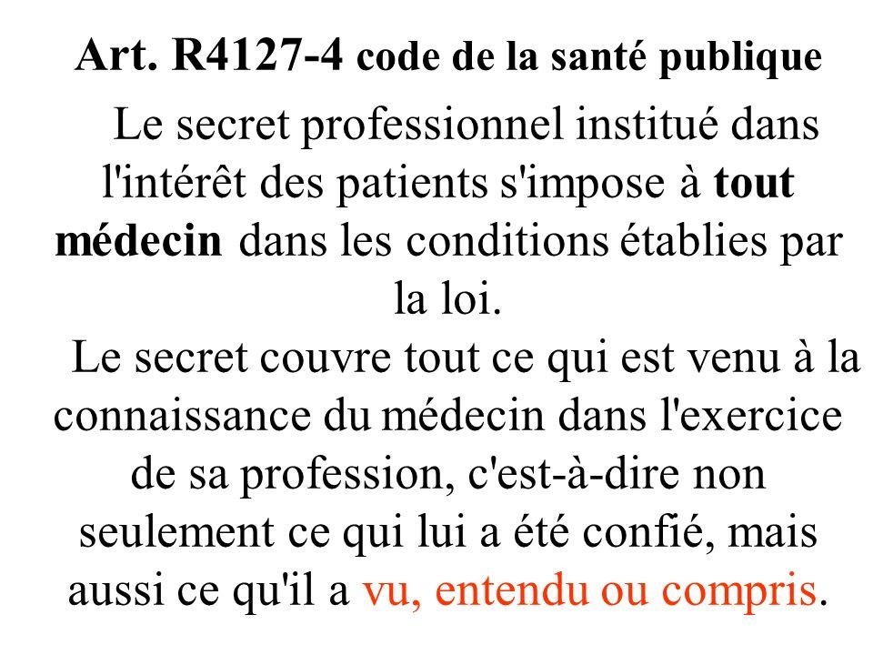 - 3 - Sur quoi porte le secret professionnel ? « ce qui est appris, compris ou deviné à loccasion de lexercice professionnel » cass.crim. 19/12/1885