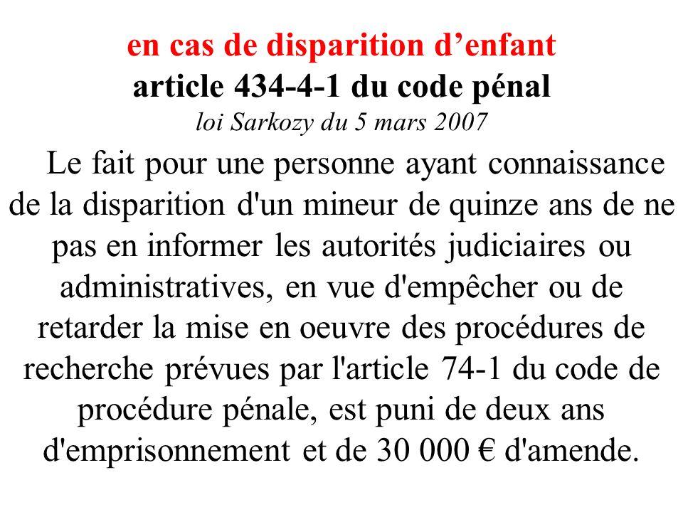 Art. L. 121-6-2 CASF (loi Sarkozy prévention délinquance) Lorsqu'il apparaît qu'un mineur est susceptible d'être en danger au sens de l'article 375 du