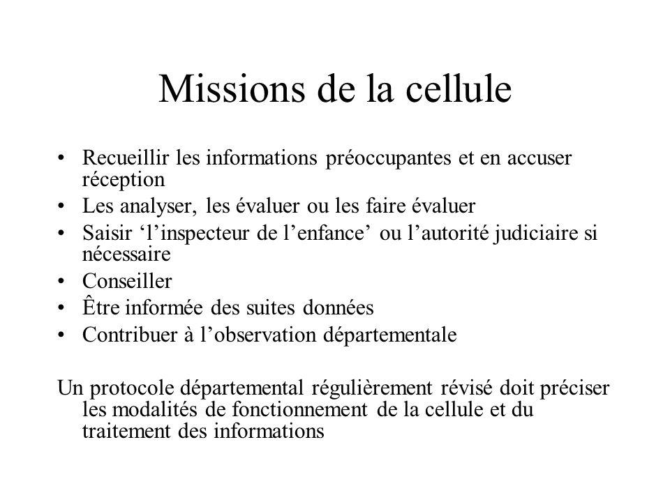 La cellule de recueil et de traitement des informations préoccupantes Lieu unique de recueil des informations préoccupantes Une cellule pluridisciplin
