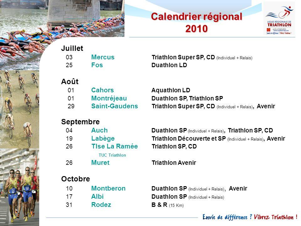 Juillet 03 Mercus Triathlon Super SP, CD (Individuel + Relais) 25 Fos Duathlon LD Août 01 Cahors Aquathlon LD 01 Montréjeau Duathlon SP, Triathlon SP