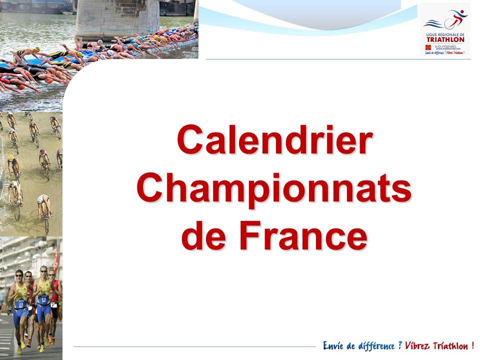 Calendrier Championnats de France