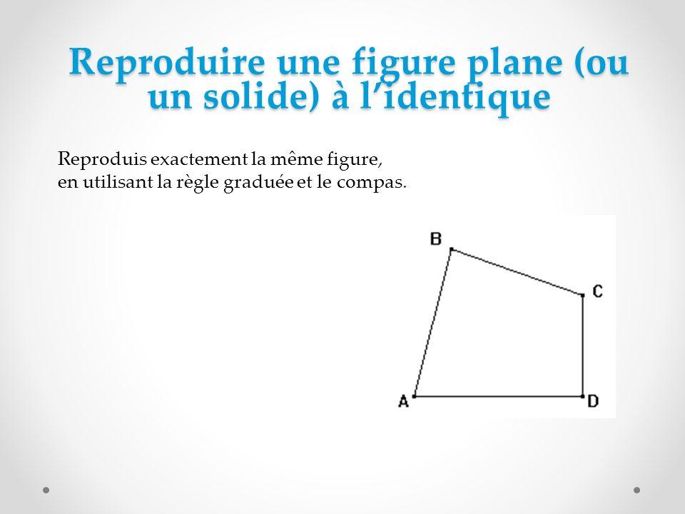 Agrandir, réduire une figure plane (ou un solide) Réaliser un agrandissement de la figure suivante à léchelle 7/5.