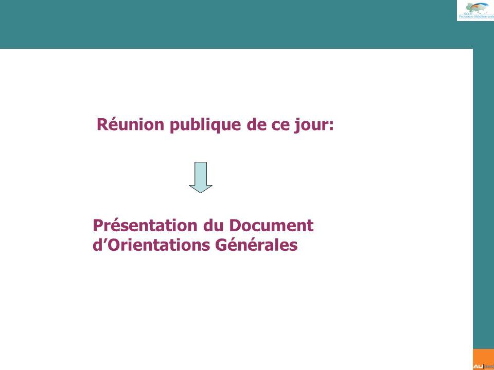 Réunion publique de ce jour: Présentation du Document dOrientations Générales