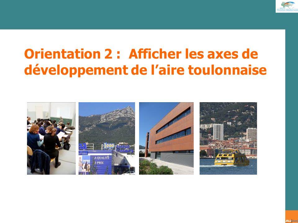 2 e forum citoyen - 7 juillet 2007 Orientation 2 : Afficher les axes de développement de laire toulonnaise