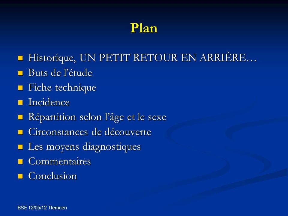 BSE 12/05/12 Tlemcen Plan Historique, UN PETIT RETOUR EN ARRIÈRE… Historique, UN PETIT RETOUR EN ARRIÈRE… Buts de létude Buts de létude Fiche techniqu