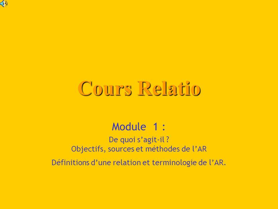 Cours Relatio Module 1 : De quoi sagit-il .