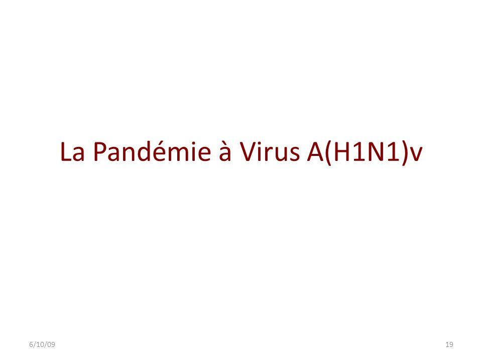 La Pandémie à Virus A(H1N1)v 6/10/0919