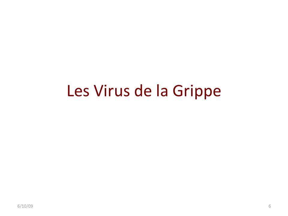 Les Virus de la Grippe Myxovirus influenzae, virus à ARN, non spécifiques de lhomme : 3 types majeurs : A (le plus virulent), B et C.
