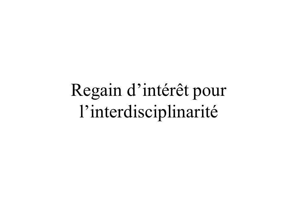 Regain dintérêt pour linterdisciplinarité