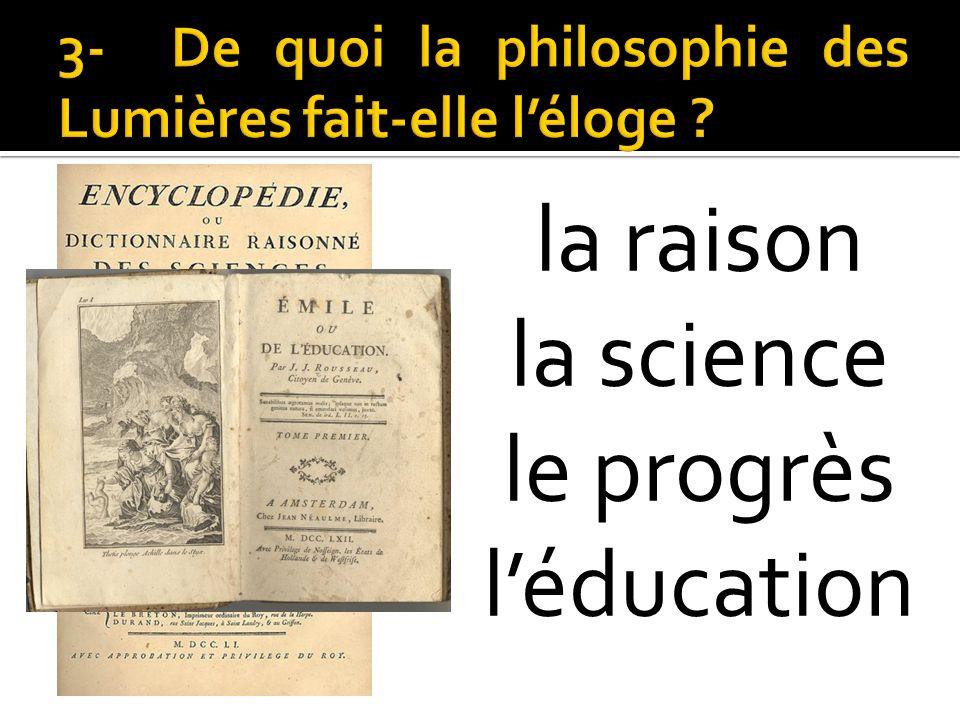 la raison la science le progrès léducation