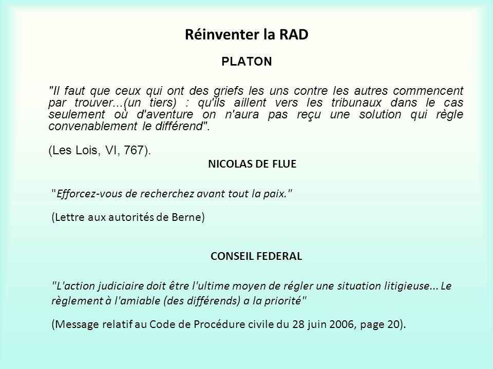 Réinventer la RAD PLATON