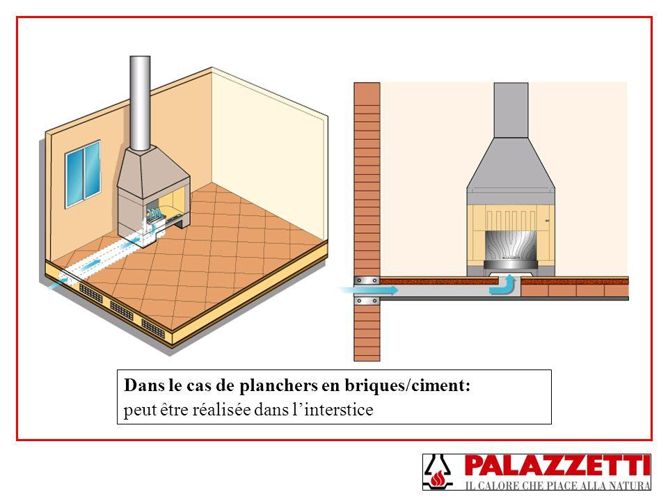 Dans le cas de planchers en briques/ciment: peut être réalisée dans linterstice