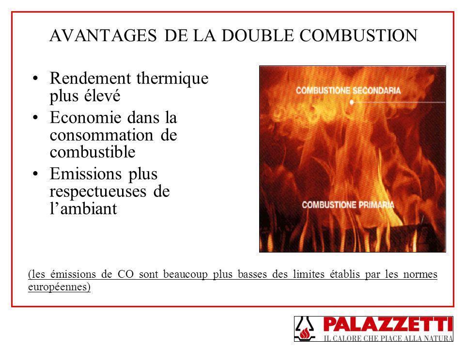 AVANTAGES DE LA DOUBLE COMBUSTION Rendement thermique plus élevé Economie dans la consommation de combustible Emissions plus respectueuses de lambiant
