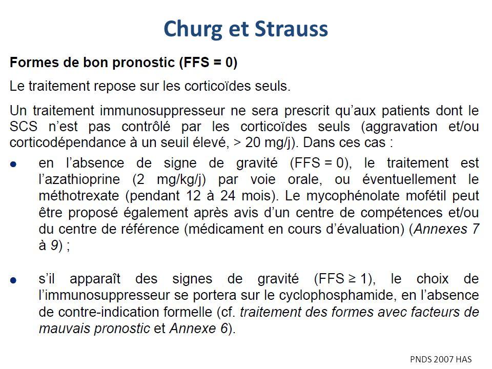 Churg et Strauss PNDS 2007 HAS
