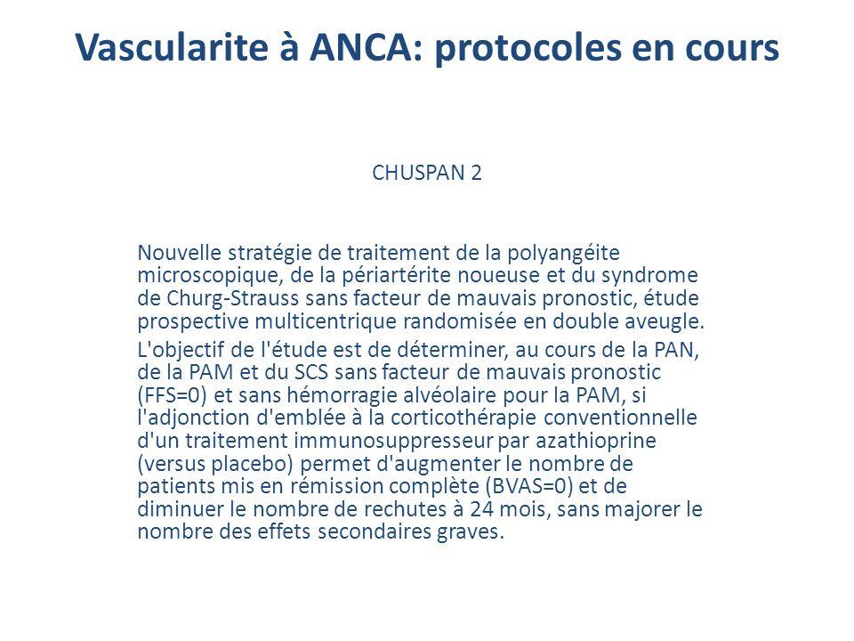 CHUSPAN 2 Nouvelle stratégie de traitement de la polyangéite microscopique, de la périartérite noueuse et du syndrome de Churg-Strauss sans facteur de