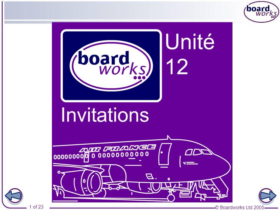 © Boardworks Ltd 2005 1 of 23