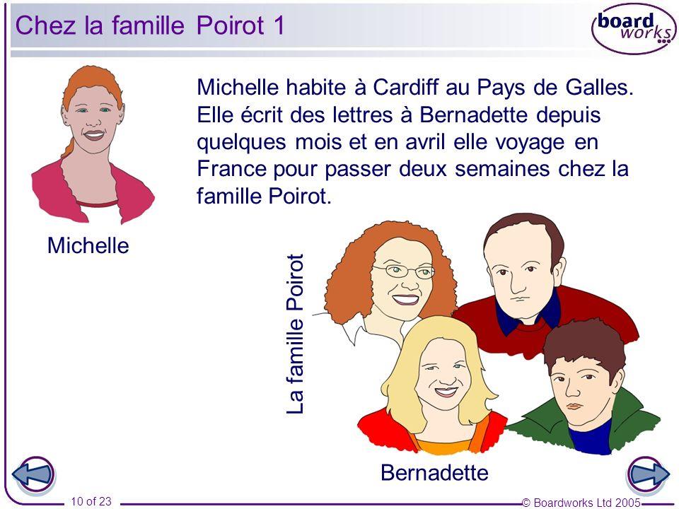 © Boardworks Ltd 2005 10 of 23 Michelle habite à Cardiff au Pays de Galles. Elle écrit des lettres à Bernadette depuis quelques mois et en avril elle