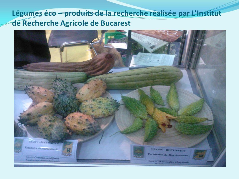 Légumes éco – produits de la recherche réalisée par LInstitut de Recherche Agricole de Bucarest