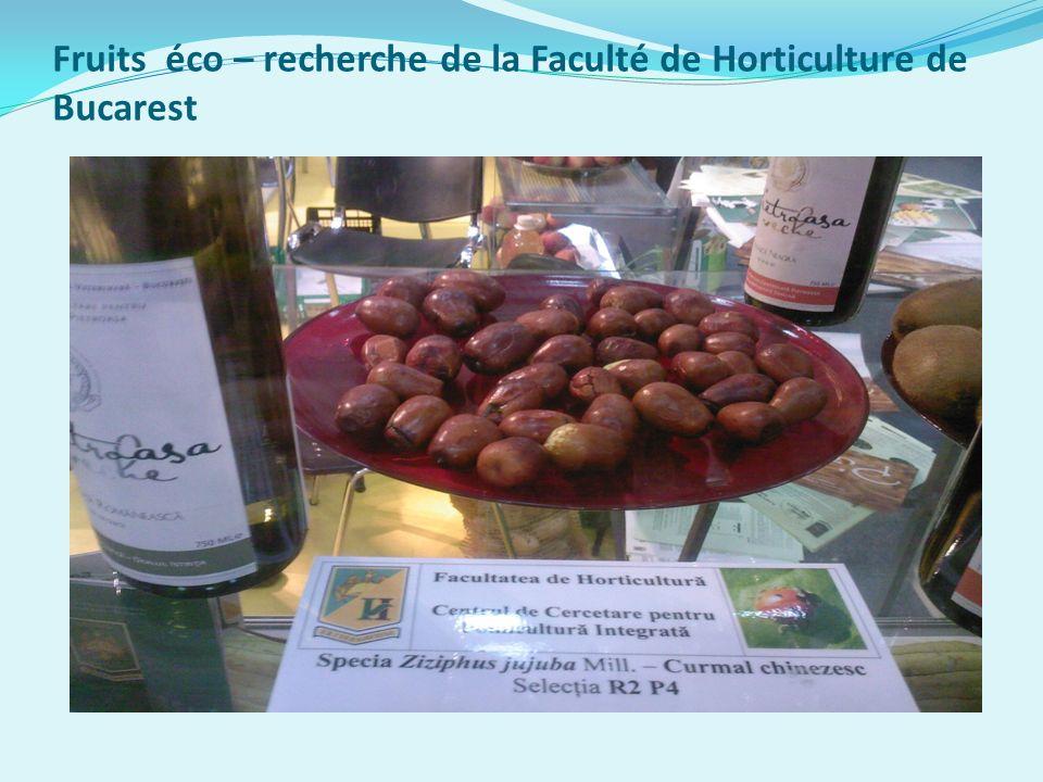 Fruits éco – recherche de la Faculté de Horticulture de Bucarest