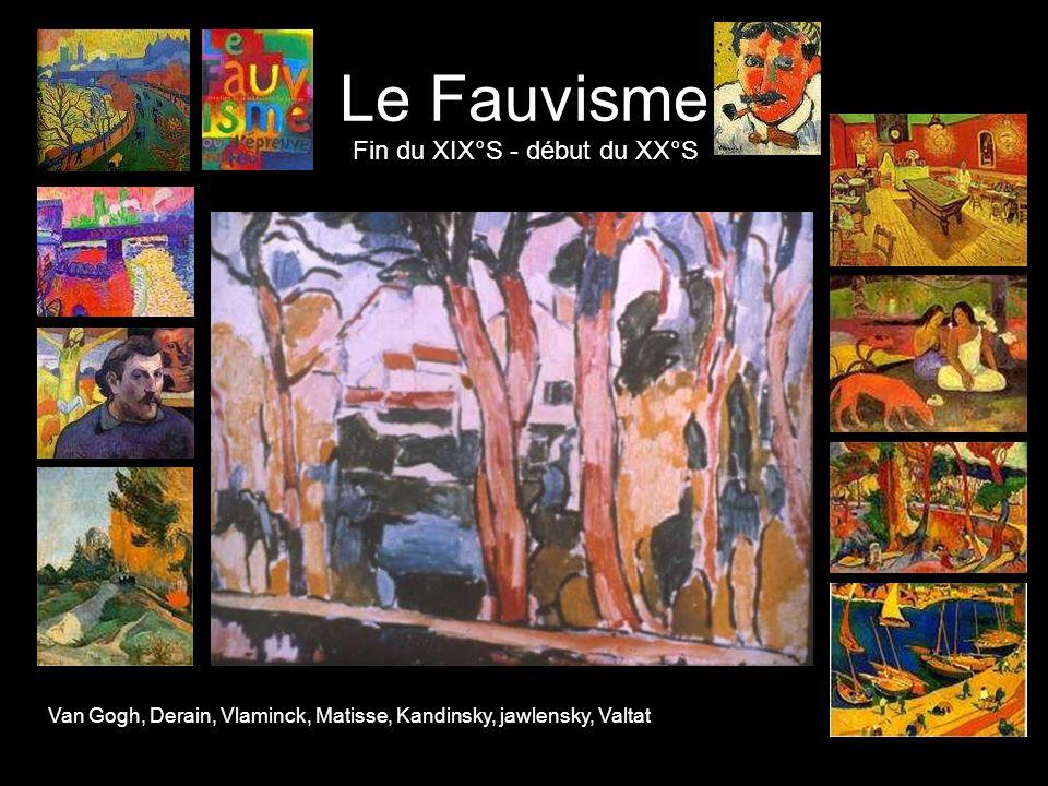 Le Fauvisme Fin du XIX°S - début du XX°S Van Gogh, Derain, Vlaminck, Matisse, Kandinsky, jawlensky, Valtat
