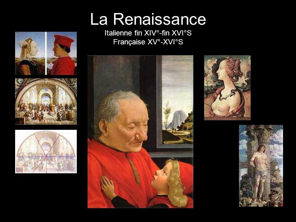 La Renaissance Italienne fin XIV°-fin XVI°S Française XV°-XVI°S