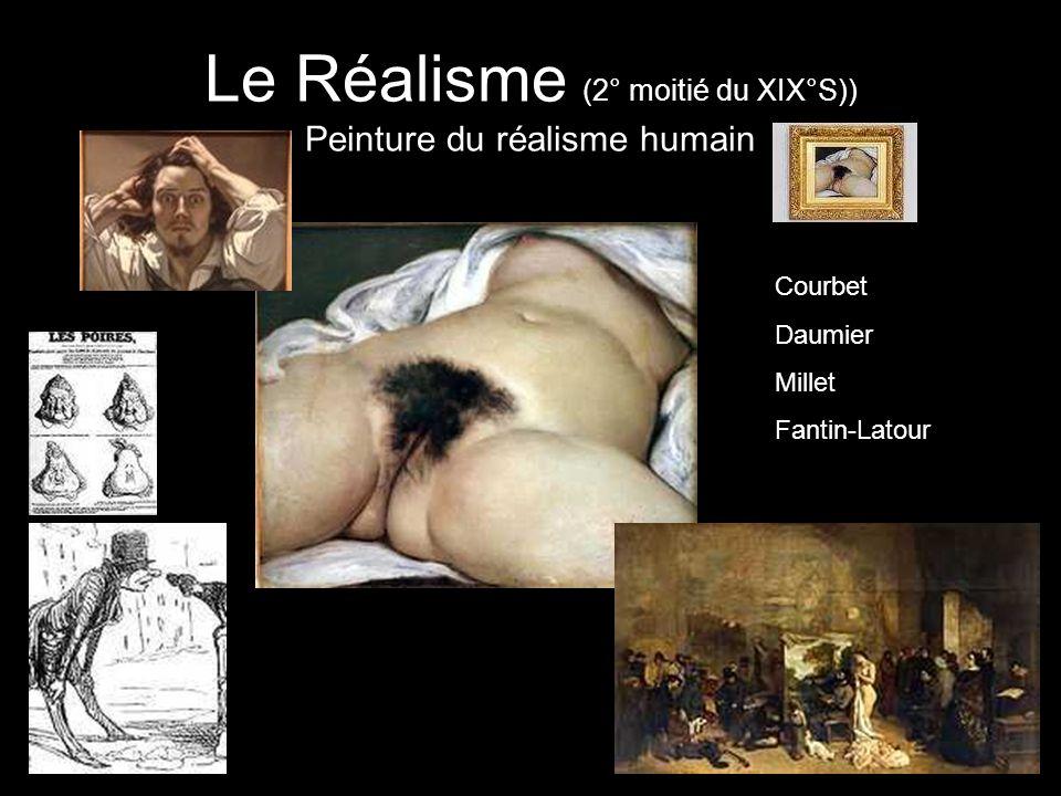 Le Réalisme (2° moitié du XIX°S)) Peinture du réalisme humain Courbet Daumier Millet Fantin-Latour