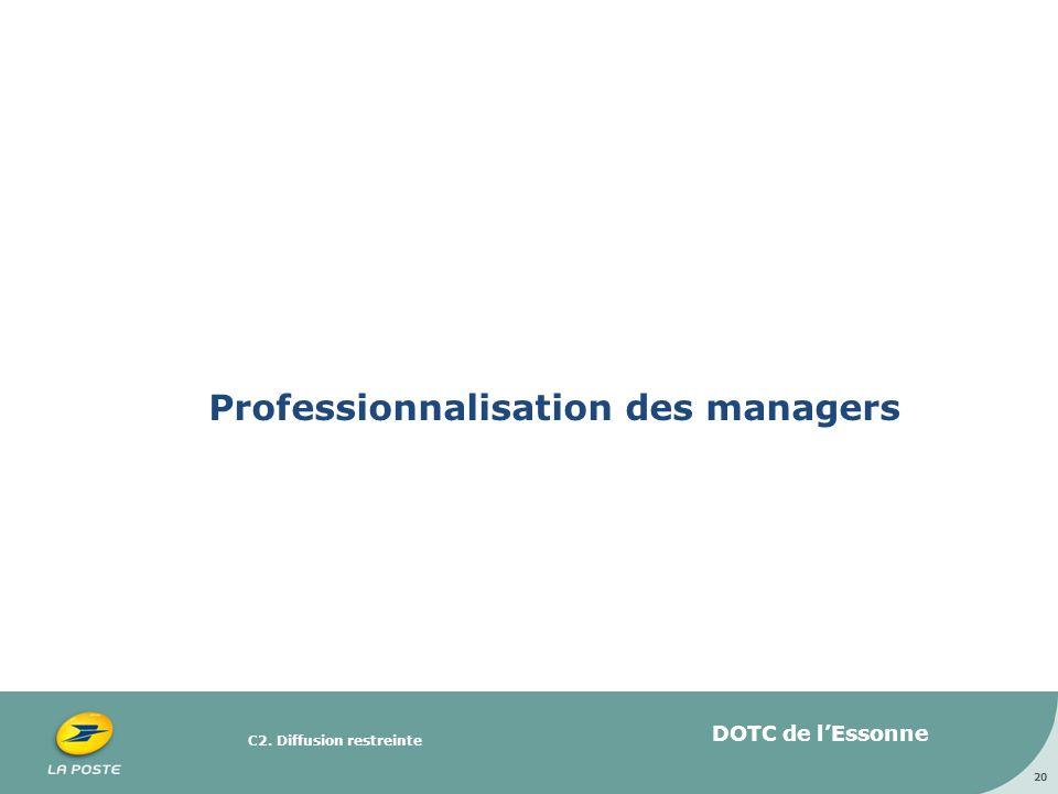 C2. Diffusion restreinte Professionnalisation des managers 20 DOTC de lEssonne