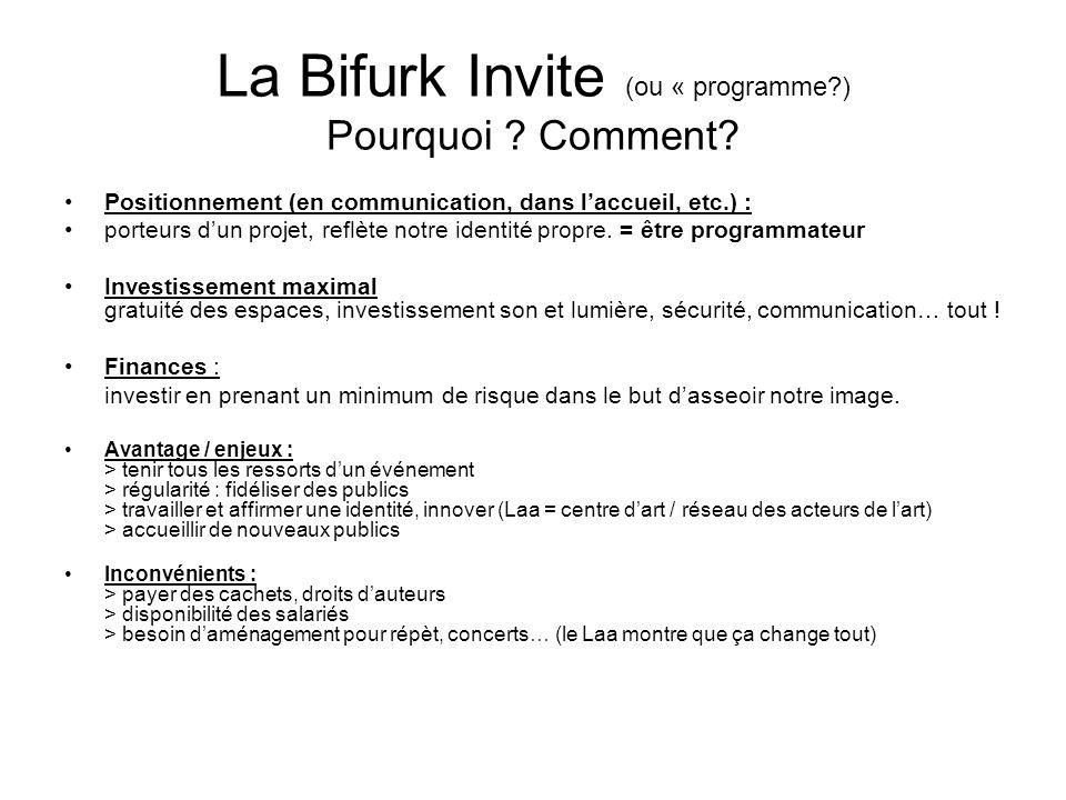 La Bifurk Invite (ou « programme ) Pourquoi . Comment.