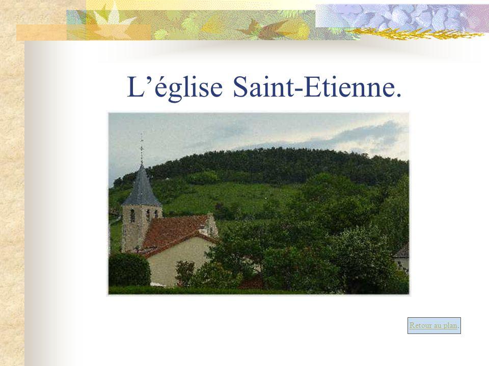 Léglise Saint-Etienne. Retour au plan.