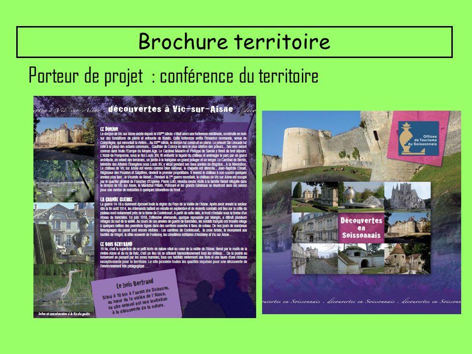 Porteur de projet : conférence du territoire Brochure territoire