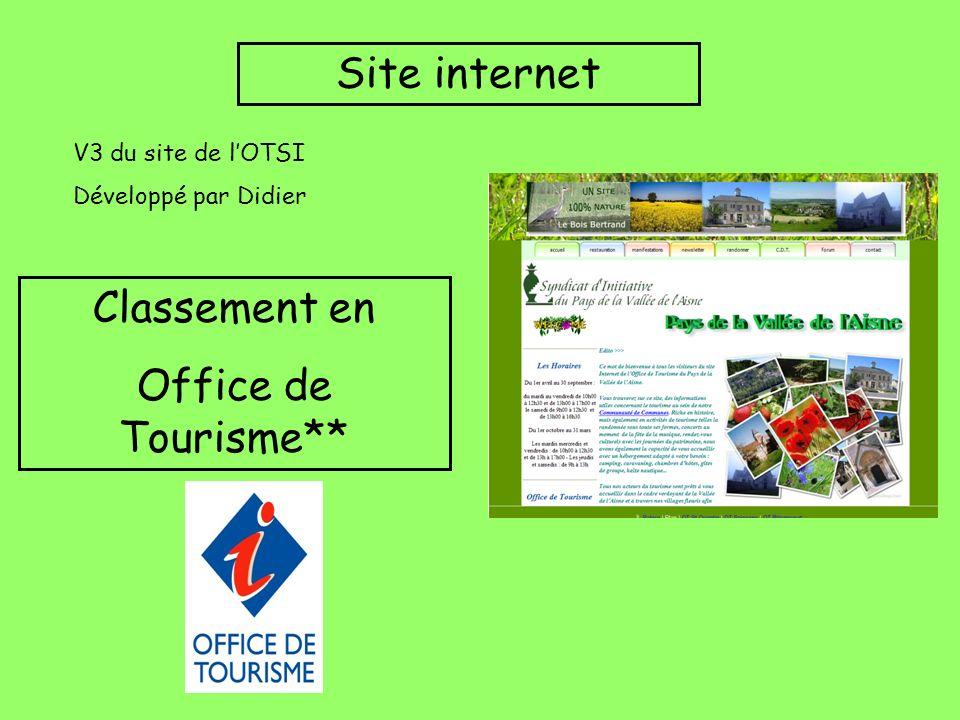 Site internet V3 du site de lOTSI Développé par Didier Classement en Office de Tourisme**