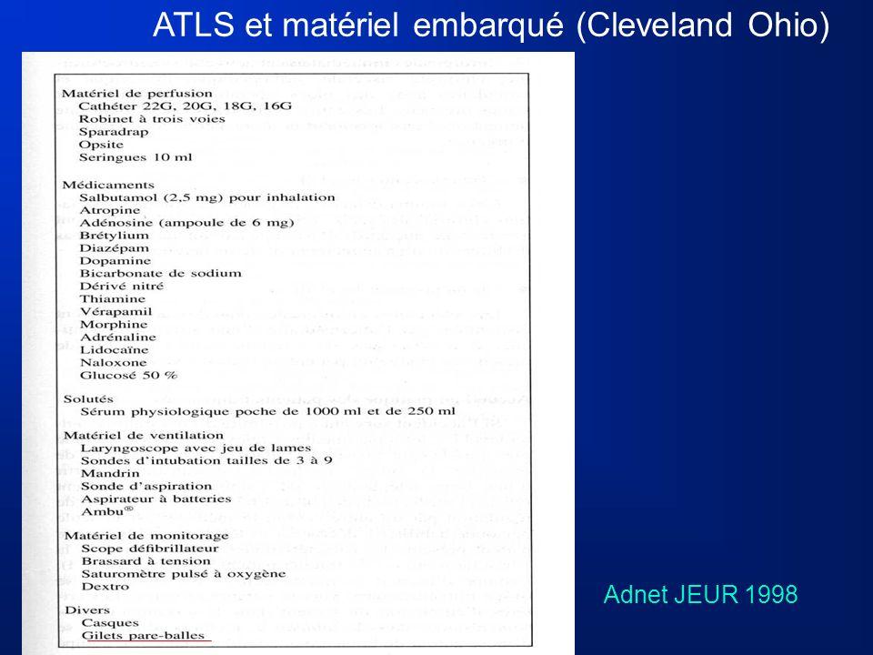 Adnet JEUR 1998 ATLS et matériel embarqué (Cleveland Ohio)