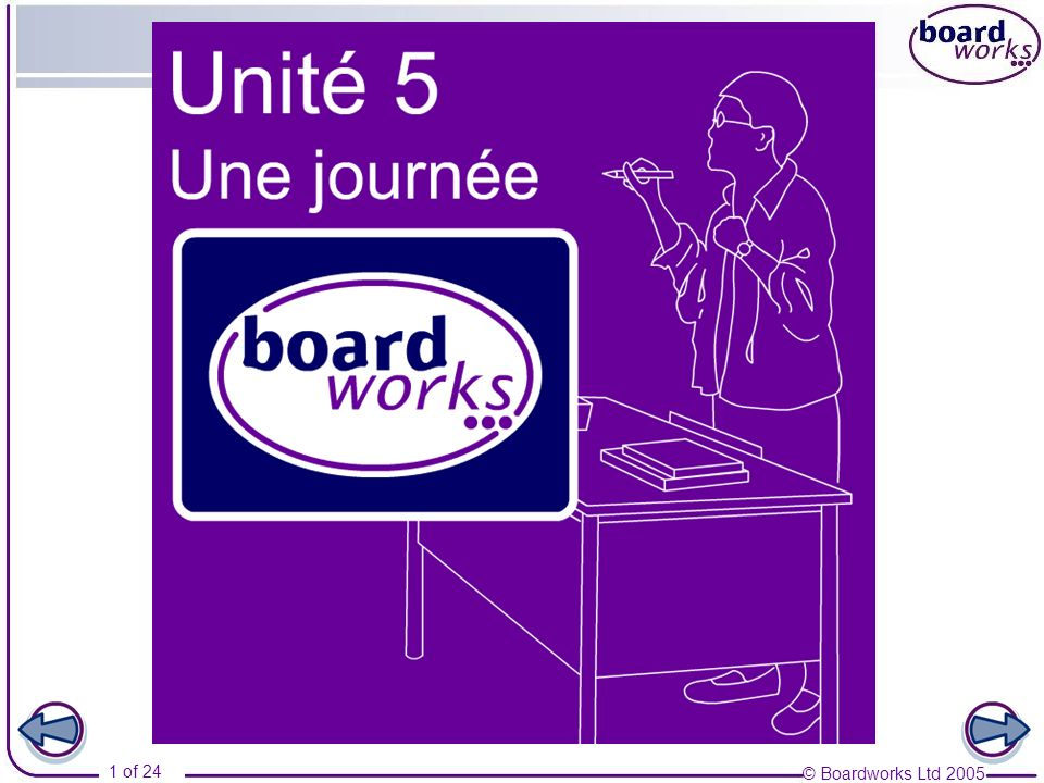 © Boardworks Ltd 2005 12 of 24 Les matières 7