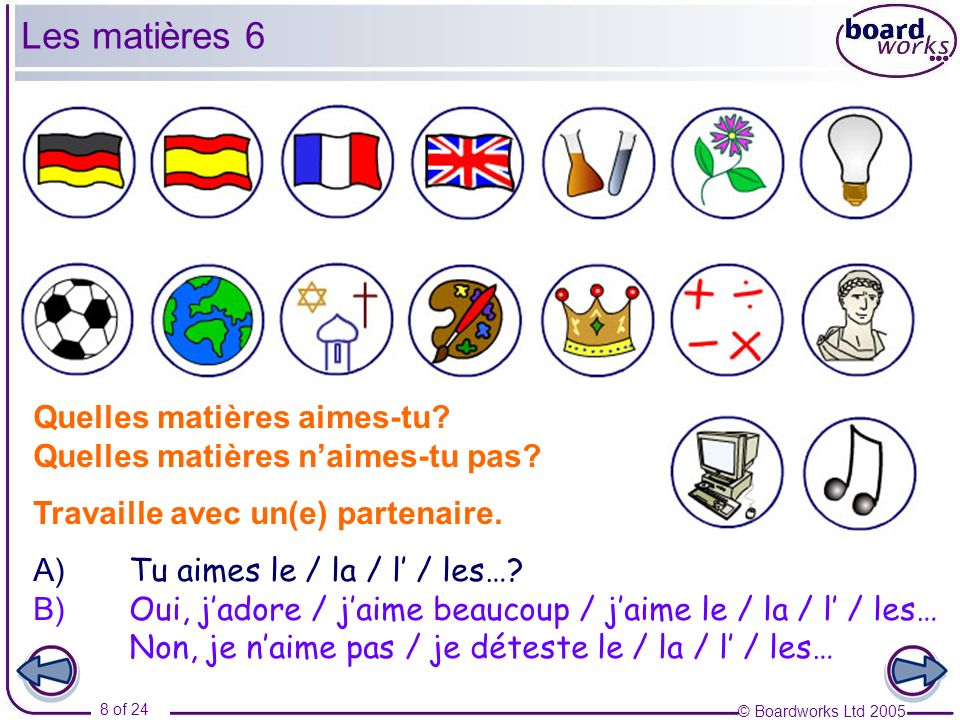 © Boardworks Ltd 2005 9 of 24 GRAMMAR In French, you will often come across questions starting with pourquoi….