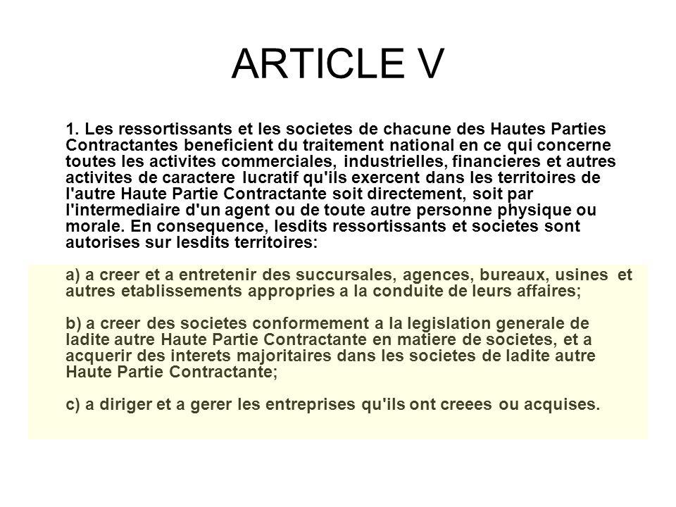 ARTICLE V 1.