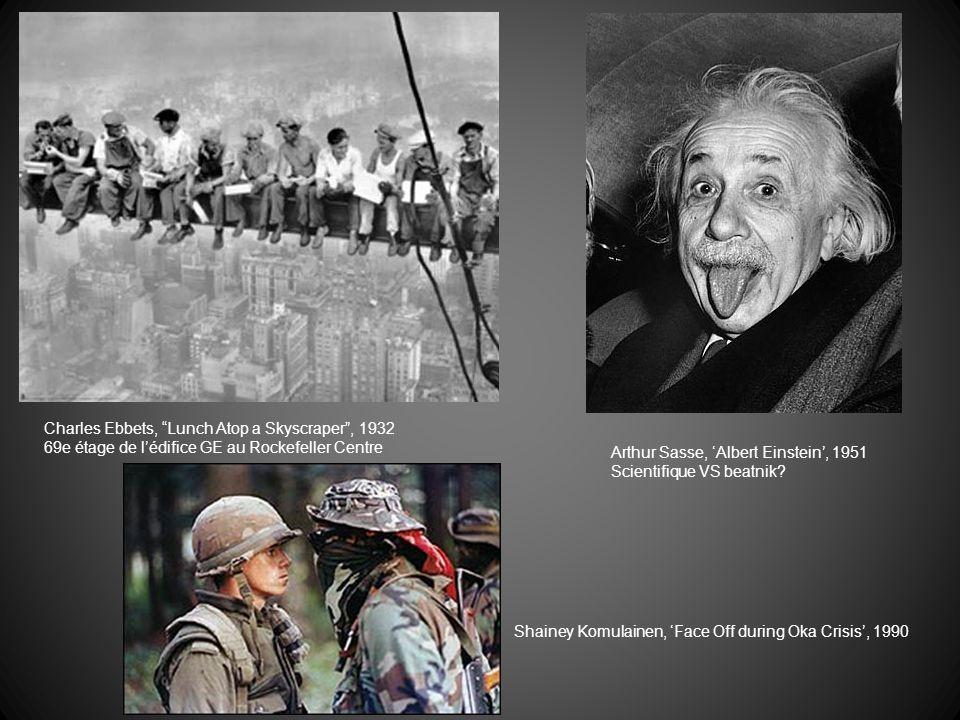 Elliott Erwitt, Fontaine deau ségrégée, 1950 (Caroline du Nord) Stuart Magnum, Tiananment Square, 1990 (Chine) Révolte étudiante Espoir vs massacre Joe Rosenthal, Iwo Jima, 1945