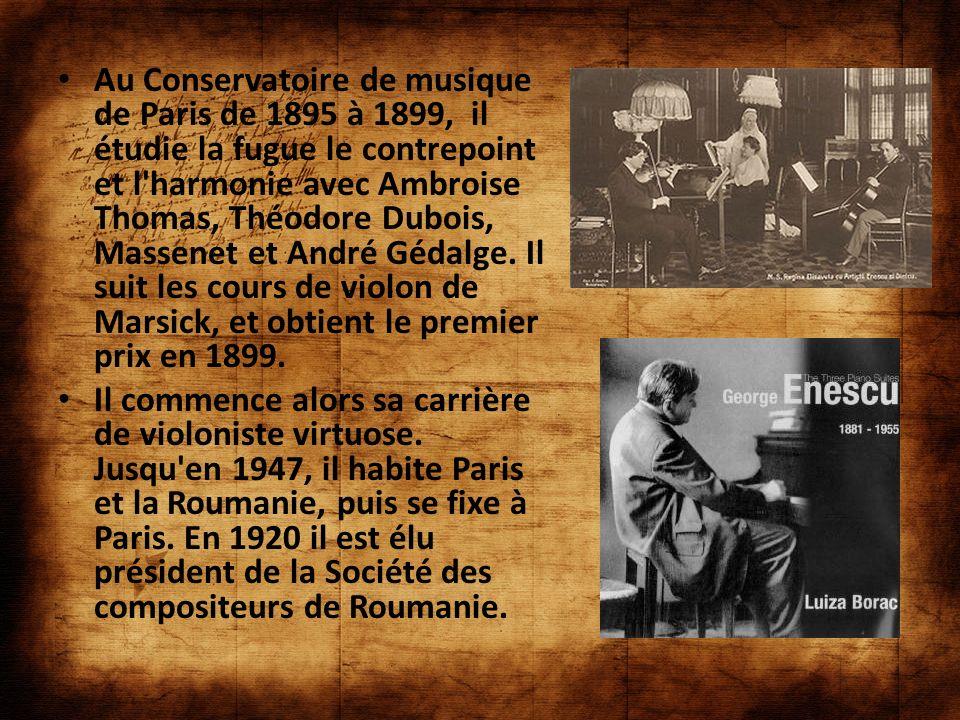 Au Conservatoire de musique de Paris de 1895 à 1899, il étudie la fugue le contrepoint et l'harmonie avec Ambroise Thomas, Théodore Dubois, Massenet e