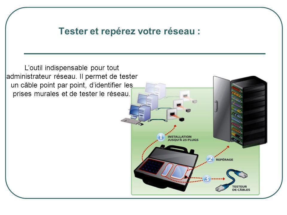 Tester et repérez votre réseau : Loutil indispensable pour tout administrateur réseau. Il permet de tester un câble point par point, didentifier les p