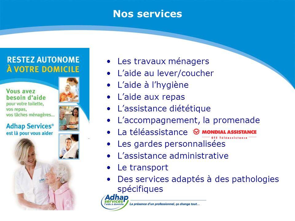 Les exclusivités Adhap Services Assistance 7 jours/7 Permanence téléphonique 24 h/24 Encadrement par un professionnel de santé Prise en charge rapide sous 24 h, ponctuelle ou sans limite de durée Continuité de nos services même en se déplaçant en France