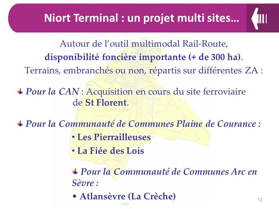 Autour de loutil multimodal Rail-Route, disponibilité foncière importante (+ de 300 ha). Terrains, embranchés ou non, répartis sur différentes ZA : Po