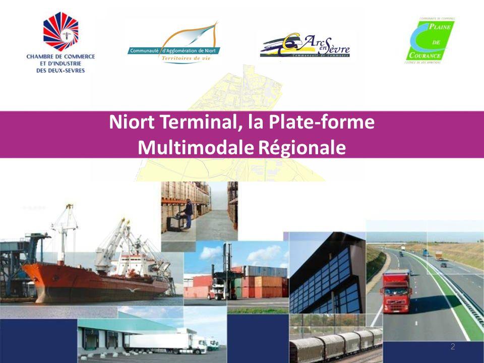 13 Niort Terminal : un projet multi sites… Cartes et vues aériennes des sites…