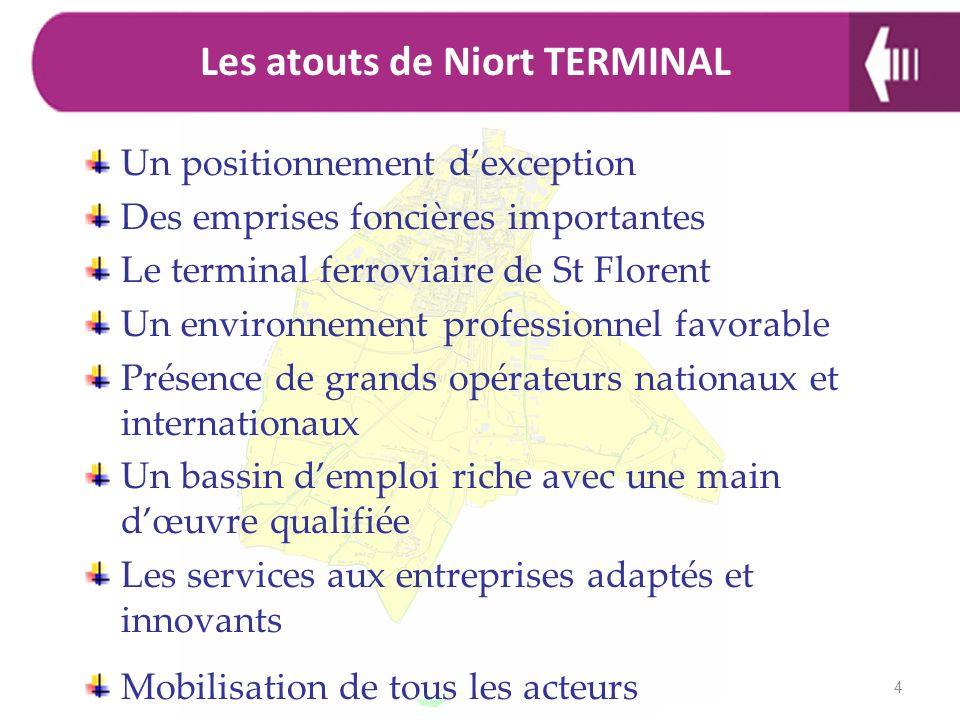 Un positionnement dexception Des emprises foncières importantes Le terminal ferroviaire de St Florent Un environnement professionnel favorable Présenc