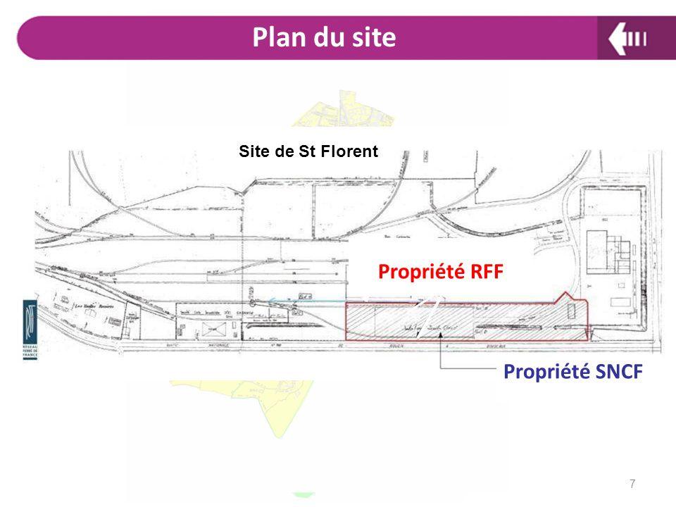 Propriété RFF Propriété SNCF Site de St Florent Plan du site 7