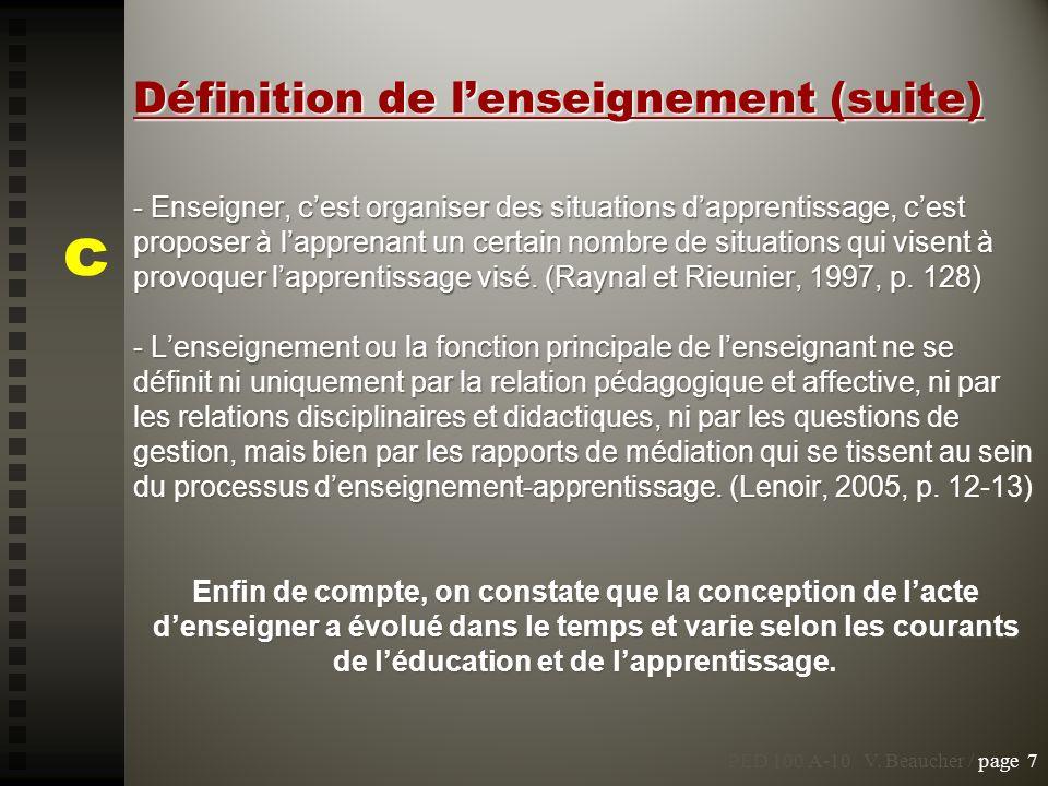 PED 100 A-10 V.Beaucher / page 75 Les enfants de la réforme...