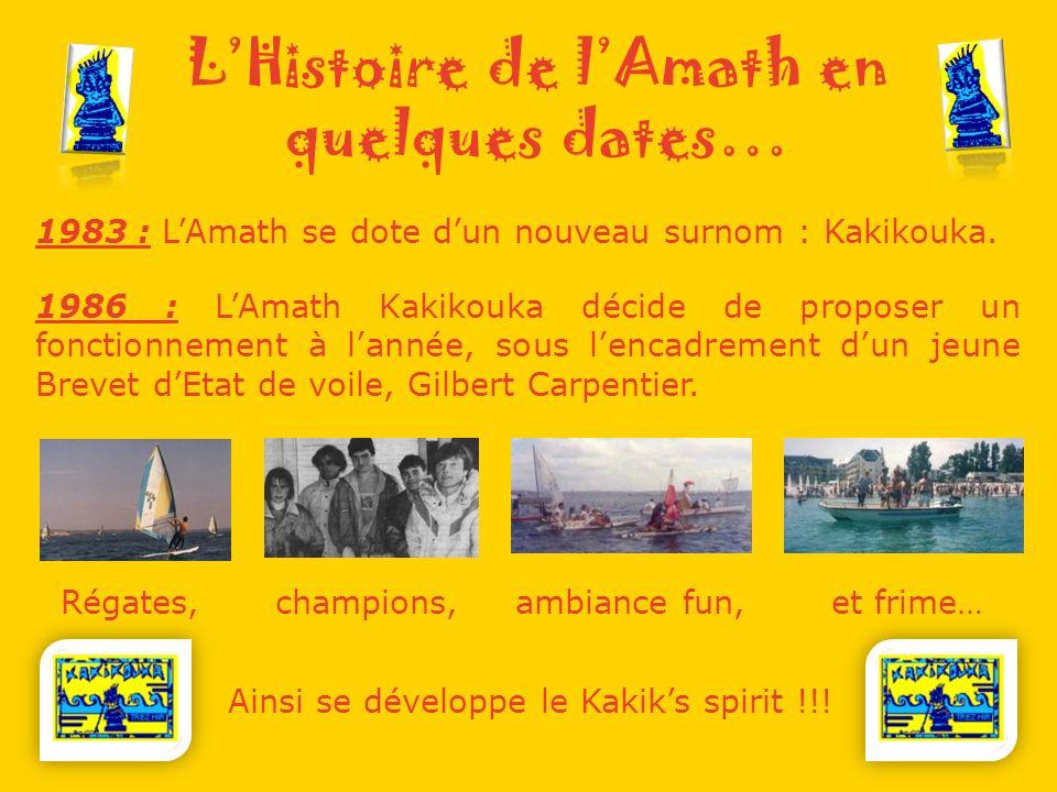 LHistoire de lAmath en quelques dates… 1983 : LAmath se dote dun nouveau surnom : Kakikouka.