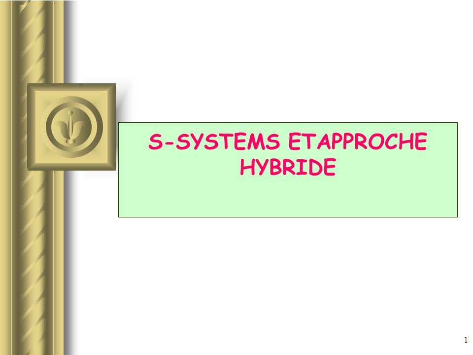 2 PLAN 1.DEFINITION DUN S-SYSTEM 2.RECHERCHE DES POINTS DEQUILIBRE 3.STABILITE DUN S-SYSTEM 4.DEFINITION DUN XS-SYSTEM 5.REDUCTION DE LA COMPLEXITE DUN MODELE 6.INTERROGATION ET LOGIQUE TEMPORELLE 7.BIBLIOGRAPHIE