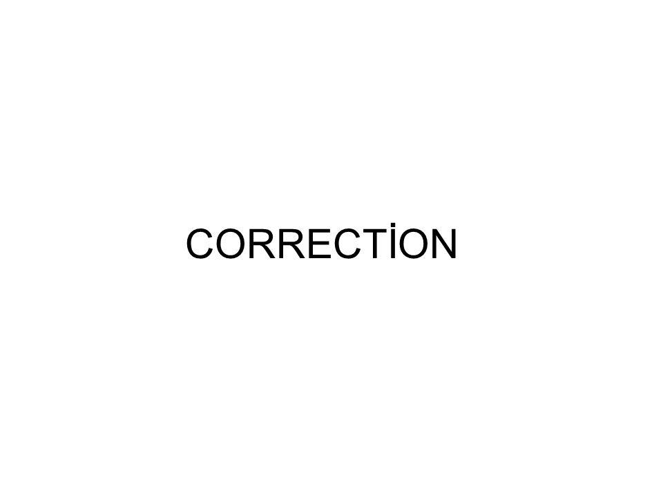 CORRECTİON