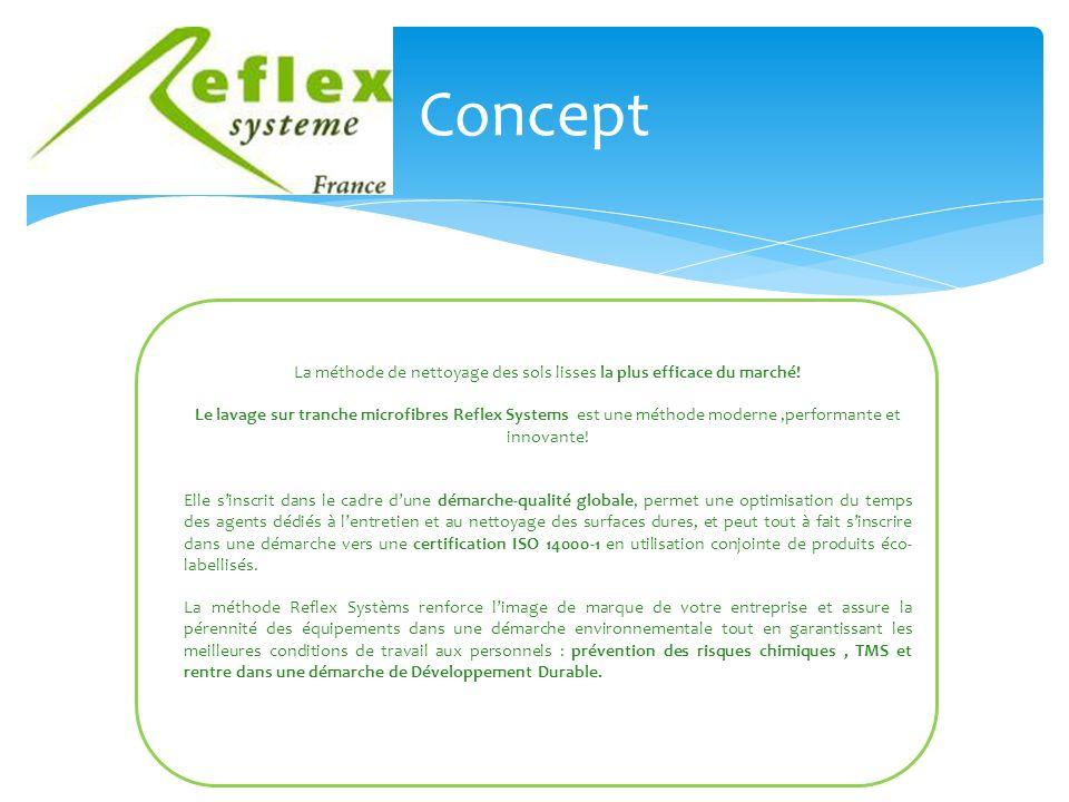 Concept La méthode de nettoyage des sols lisses la plus efficace du marché.
